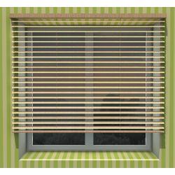 25mm  Roller blinds wooden