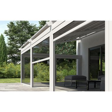 Awning system with vertical drivers rido (cassette type)
