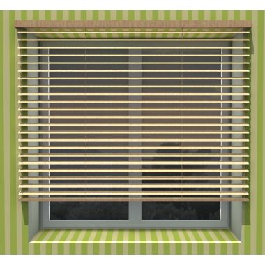 50mm Roller blinds wooden with strap