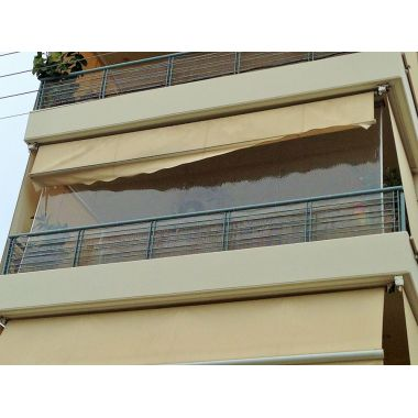 Vertical awning system with hooks (rido)