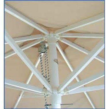 Ομπρέλα πισίνας παραλίας εσωτερική δομή